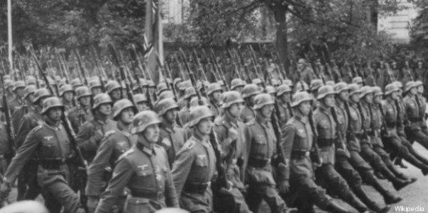 Mauvaise posture soldats allemands